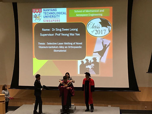 Congrats Dr Sing Swee Leong for graduating as the best MAE PhD thesis winner 2017!