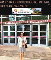 """Dr. Shweta gave a talk on """"3D Printed Bioelectronics Platform with Embedded Electronics"""" in 2018 MRS Spring Meeting & Exhibit at Phoenix, USA."""