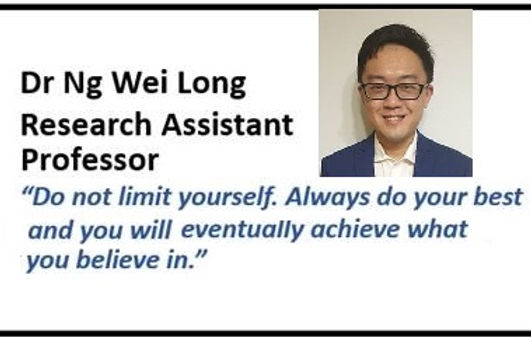 Research Assistant Professor awarded to Dr Ng Wei Long