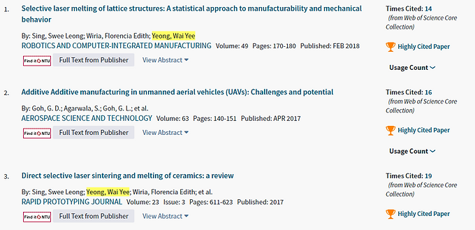 We have 7 highly cited papers for March/April 2018!