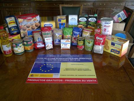 31,2 millones de kilos de alimentos del Programa europeo de ayuda a las personas más desfavorecidas