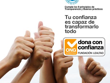 Fundación Lealtad presenta el sello Dona con Confianza