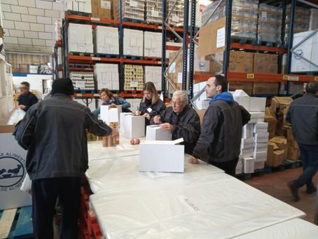 Laboratorios Vilardell dona comida para los Bancos de Alimentos