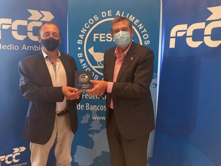 FCC recibe el reconocimiento 'Estrellas COVID-19' de FESBAL por su compromiso solidario