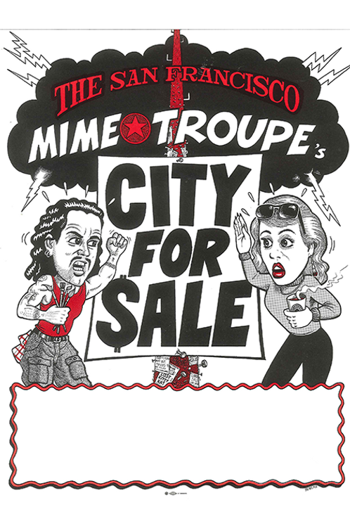 City for Sale (Black, White & Red) MINI POSTER