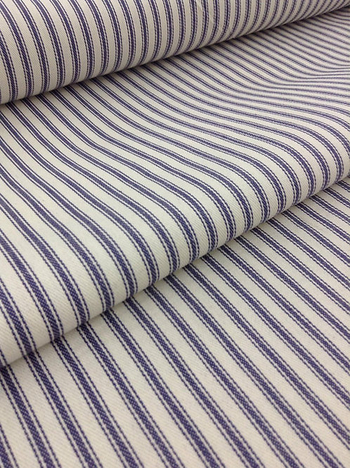 "58"" Wide Blue Woven Ticking Fabric  