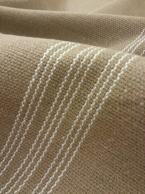 Grain Sack Fabric BY THE YARD - White NINE Stripe