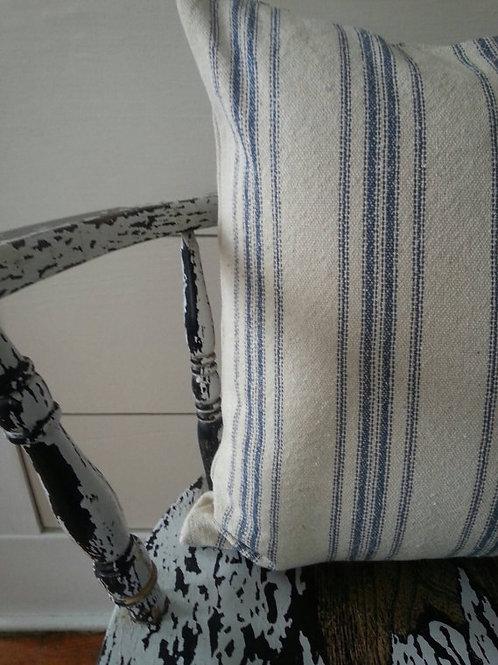 15x15 Pillow Cover - Blue 12 Stripe