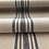 Thumbnail: Grain Sack Fabric BY THE YARD - Blue and Gray FIVE Stripe