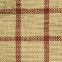 Red/Cream Checkered Homespun Fabric - Lightweight