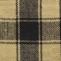 Black/Cream Checkered Homespun Fabric - Lightweight