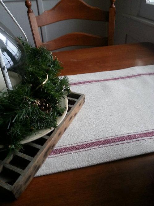 Table Runner - Burgundy 3 Stripe