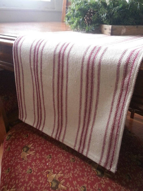 Table Runner - Burgundy 12 Stripe