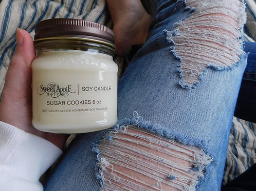 Soy Candle | Natural Soy Candle | Farmhouse Candle | Half Pint | 8oz