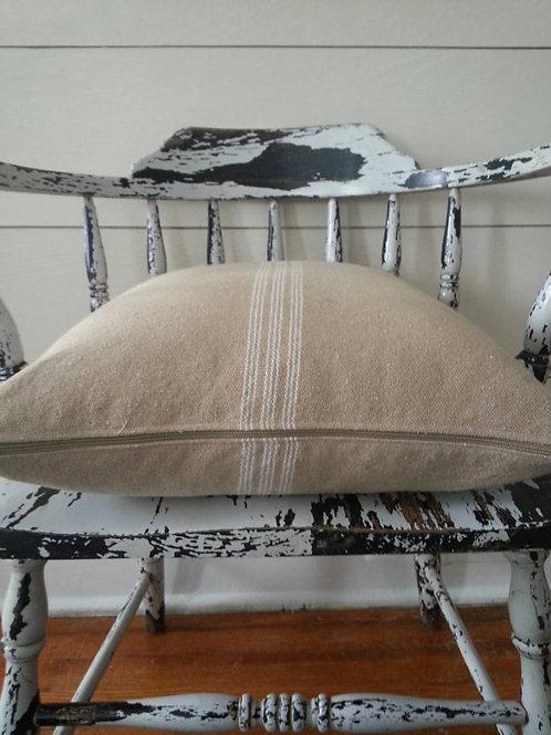 15x15 Pillow Cover - Cream 9 Stripe
