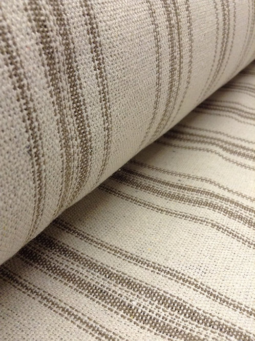 Grain Sack Fabric BY THE YARD - Tan TWELVE Stripe