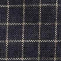 Blue/Cream Checkered Homespun Fabric - Lightweight