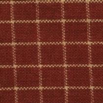 Red/Cream Checkered Homespun Fabric - Lightweight