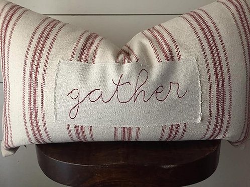 Gather Grain Sack Pillow Cover - 16x26