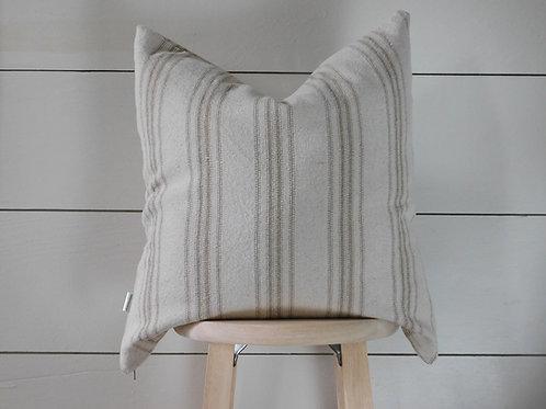Pillow Cover - Tan 12 Stripe | Beige Fabric