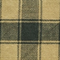 Green/Cream Checkered Homespun Fabric - Lightweight