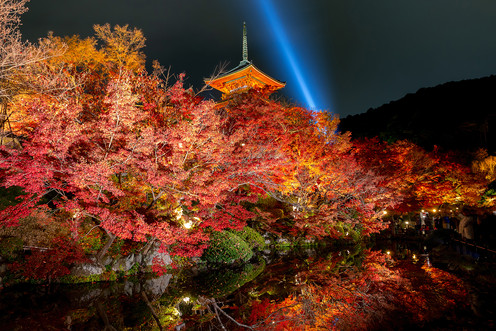 Kiyomizu-dera by night