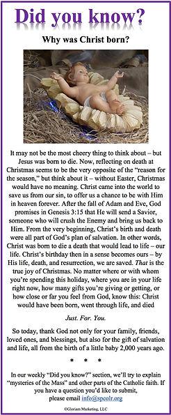Catholic bulletin column