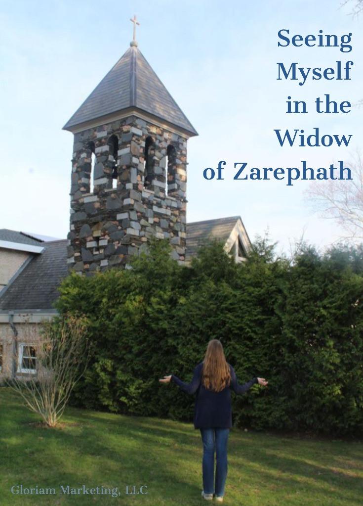 Woman looking at church