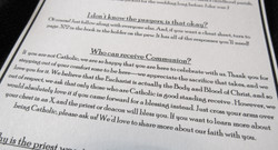 Example Communion explanation