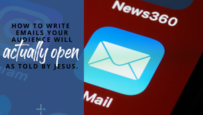 Email Marketing as Told By Jesus