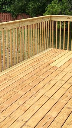 Wood deck - ProBR Construction & Restoration