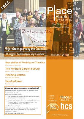 HCS Newsletter Autumn 2019 fron cover.jp