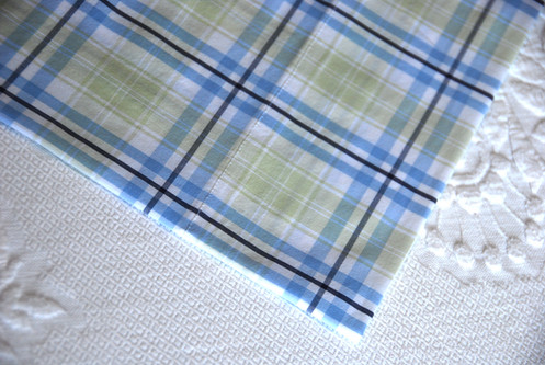 Pottery Barn Kids Riley Twin Flat Fitted Sheets Plaid