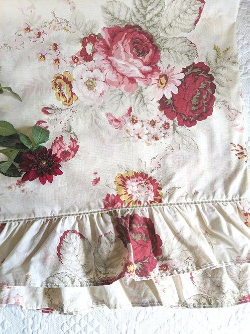 Waverly Norfolk Rose Standard Pillowcase Pair Ruffled