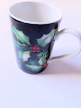 Dunoon Fine Bone China Mug Holly Holiday