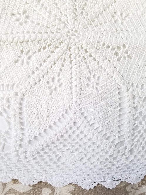 Crochet Pillow Cover~14 Square~ Lovely White!