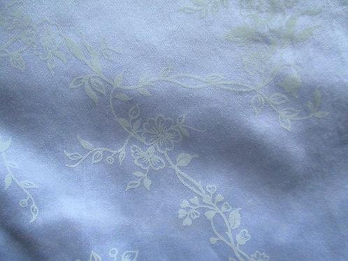 Schweitzen Linens King Blue Floral Flat Sheet Shams Italian