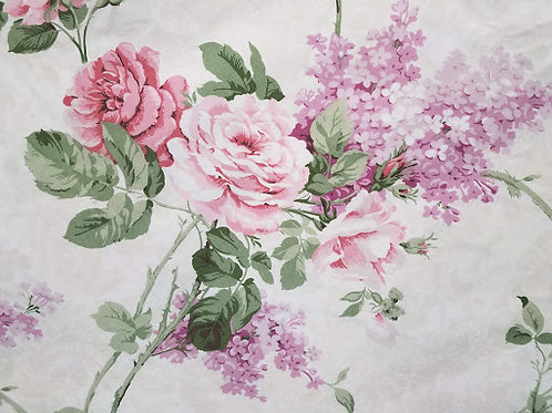 Lilacs and Roses! Twin Flat Sheet Cotton Blend