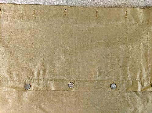 Pottery Barn Shower Curtain Linen Shell Buttons