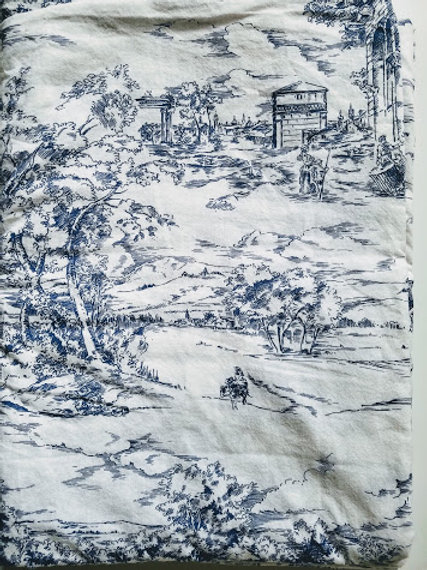 Ikea Emmie Land Full Duvet Blue Toile Cotton French Country