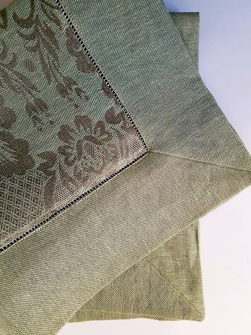 """Sferra Bros. Pillow Cover Pair 16"""" x 13"""" Green Taupe"""