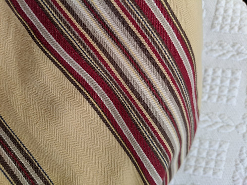 Pottery Barn Montgomery Striped King Duvet Tan Red Cotton
