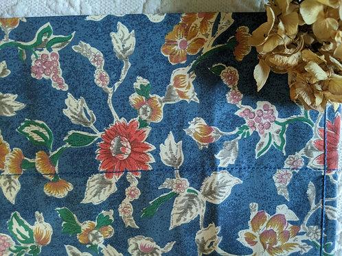 Ralph Lauren Jardin Full Flat Sheet Blue Floral
