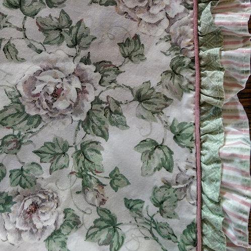 Glynda Turley Twin Flat Sheet Floral & Ruffles