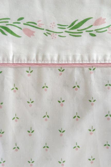 Castleberry Laura Ashley Queen Flat Sheet Vintage 1980's