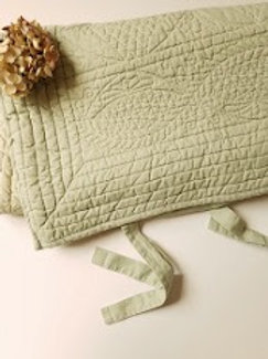 Pottery Barn Std. Quilted Hanna Sham~Linen Cotton