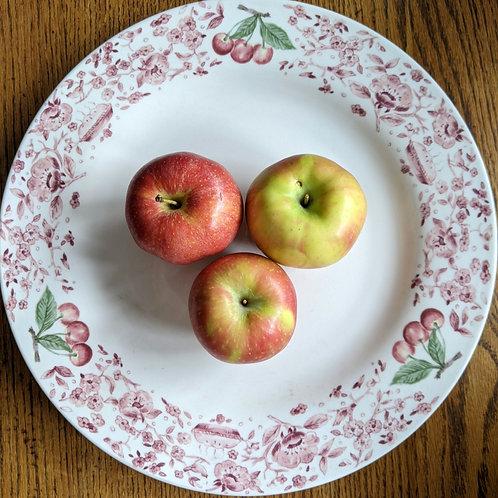"Pfaltzgraff Round Platter 14"" Apples Pies Flowers"