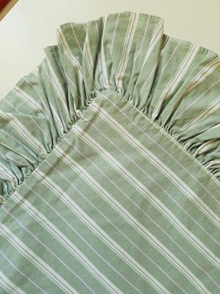 Ralph Lauren Caufield Laurelton Stripe Std. Sham Pair~Green Purple
