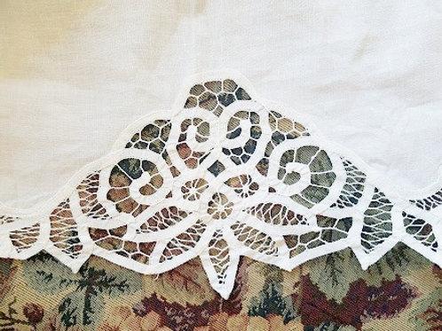 Battenburg Bed Skirt~Linen Cotton~King Size