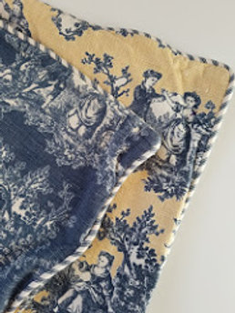 Waverly Toile Sweet Pastimes Standard Shams Blue Yellow